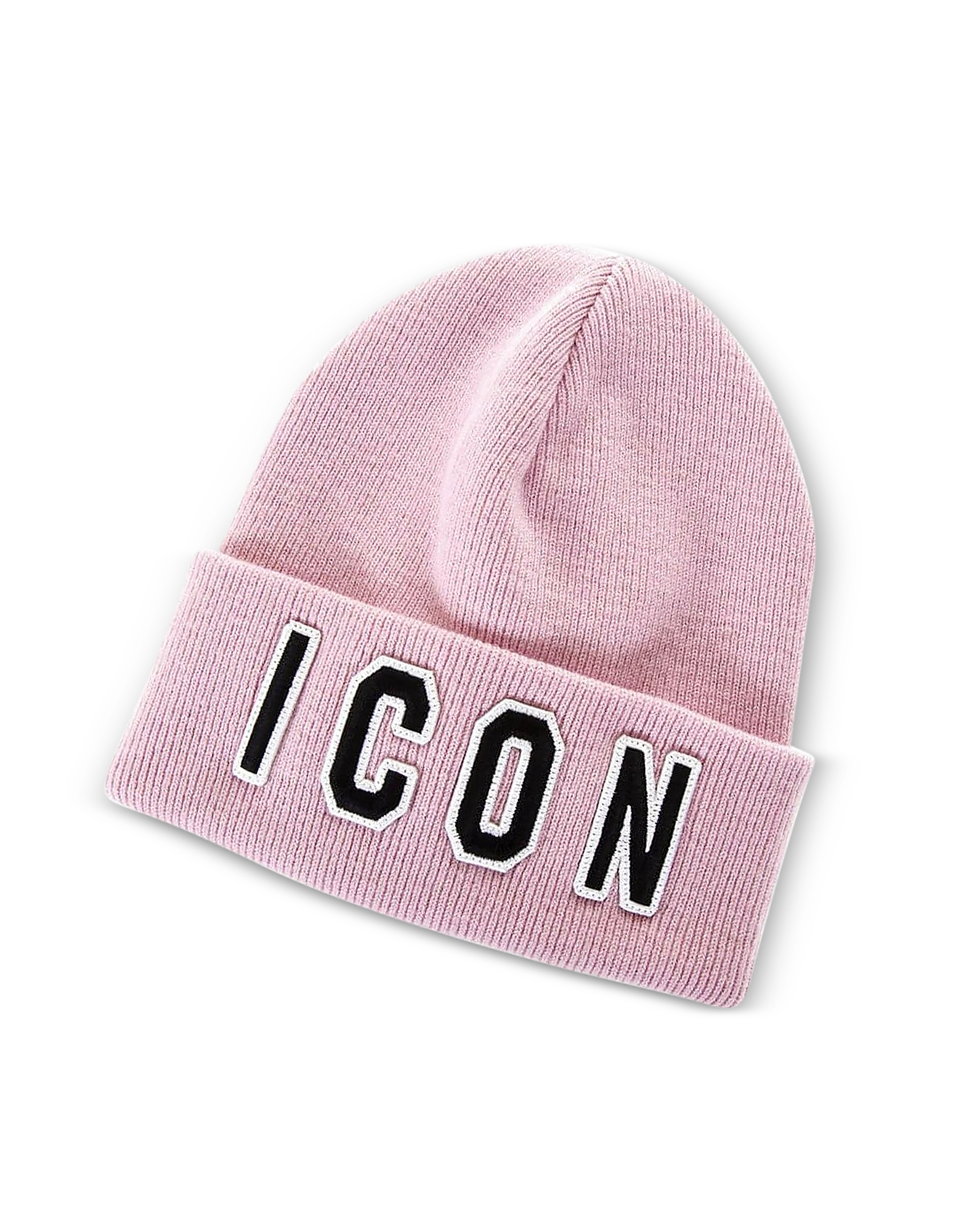 Embroidered Icon Logo Pink Wool Women's Beanie