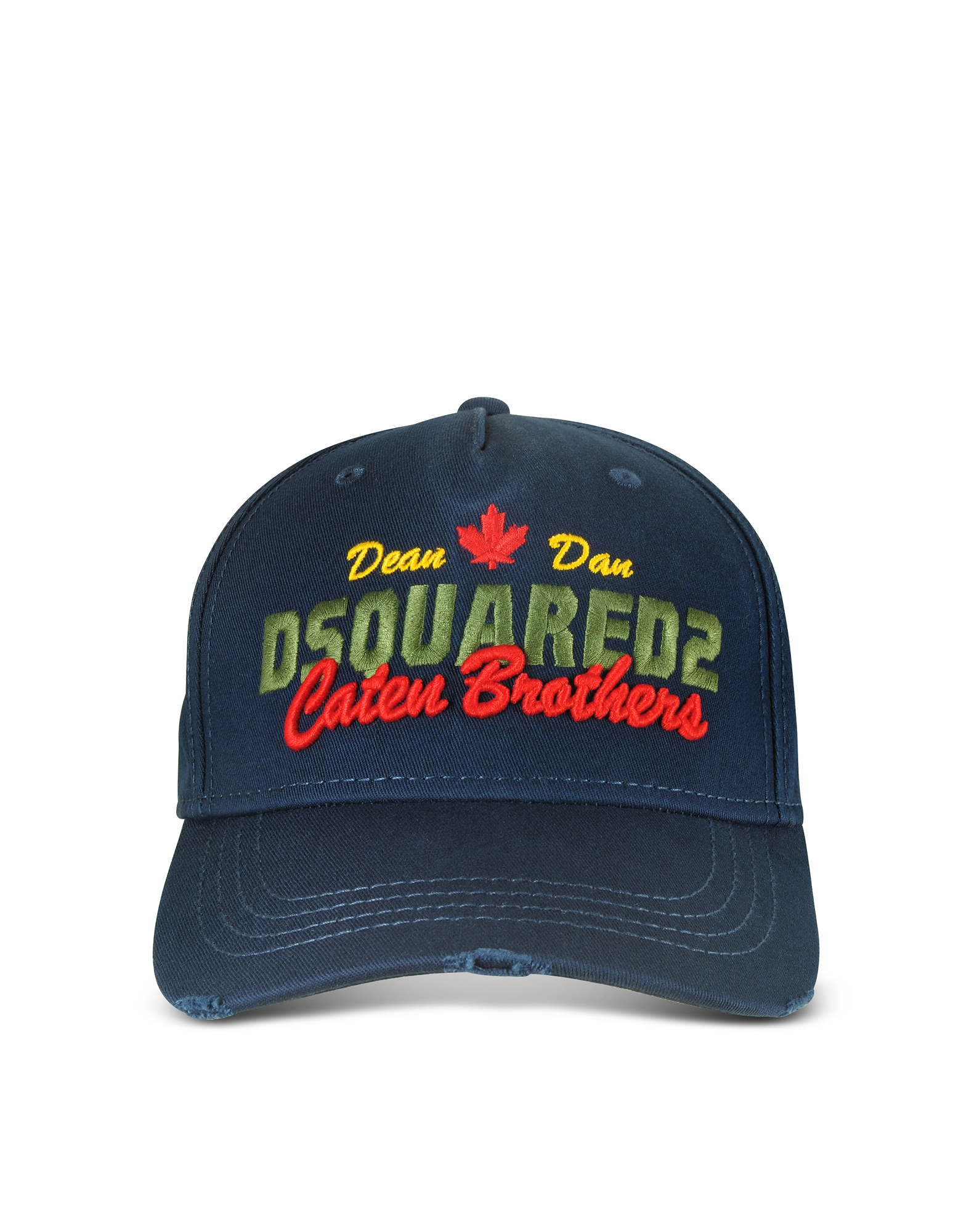 DSquared2 Men's Hats, Navy Blue Embroidered Cotton Baseball Cap