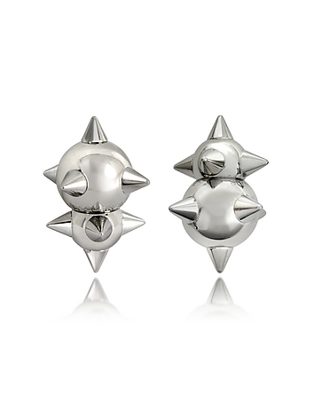 DSquared2 - Pierce Me Palladium Plated Metal Spiked Earrings