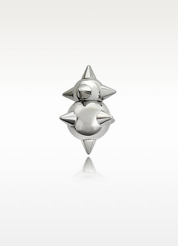 Pierce Me Palladium Plated Metal Spiked Single Earring - DSquared2
