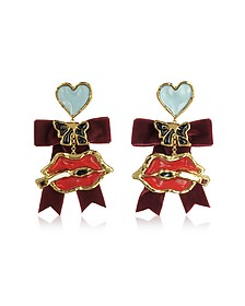 Treasures Lips Charm Earrings - DSquared2