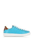 DSquared2 Santa Monica Sneaker Donna in Pelle Turchese - dsquared2 - it.forzieri.com