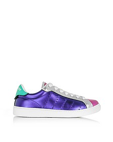 Santa Monica - Baskets Basses Femme en Cuir Métallisé Multicolore - DSquared