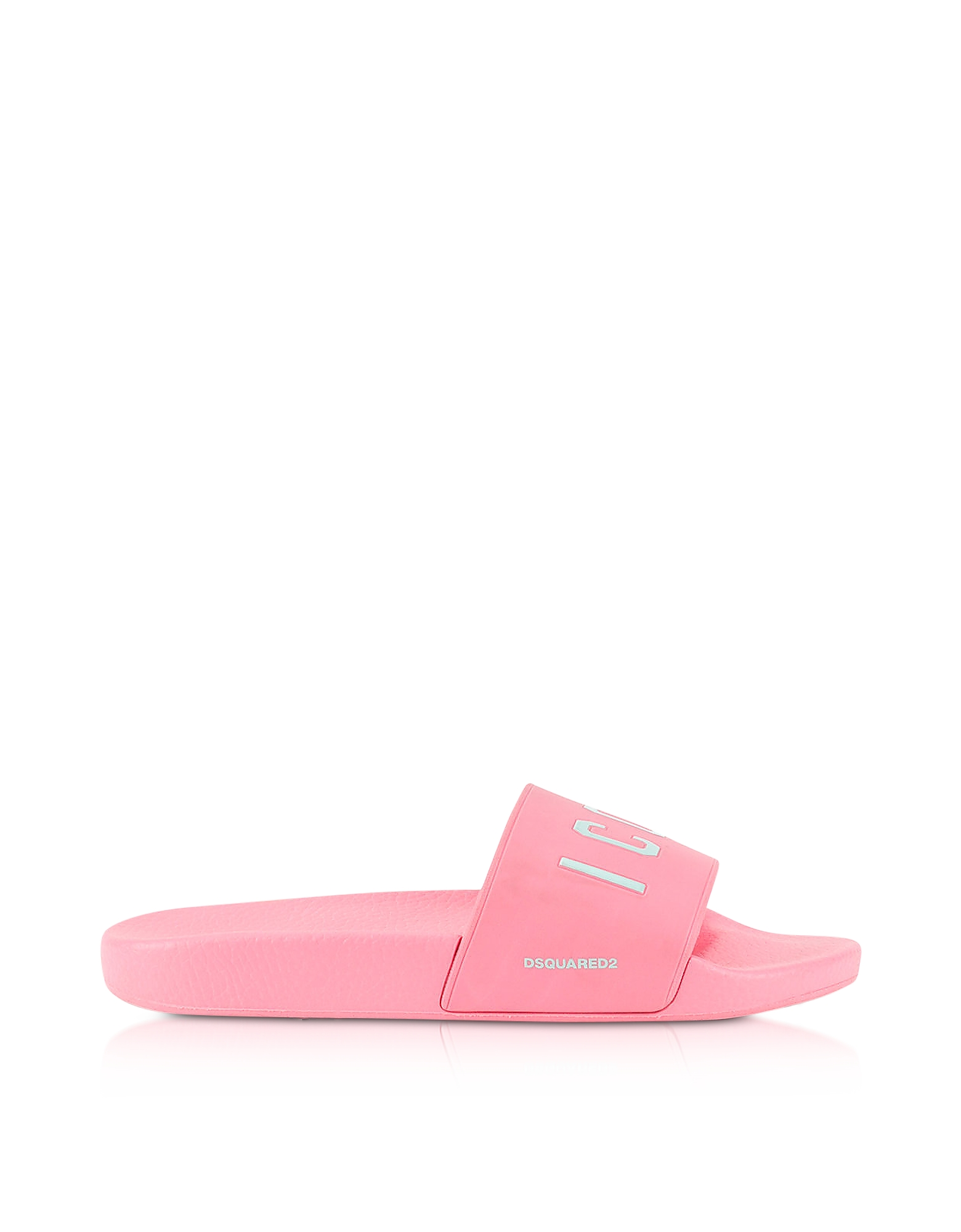 DSquared2 Shoes, Icon Pink Rubber Slide Sandals