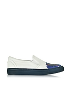 DSquared2 Sneaker Donna in Pelle Bianco Ottico/Hibiscus Viola - dsquared2 - it.forzieri.com