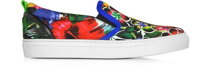 Surfers's Paradise Multicolor Landscape Print Slip On Sneaker - DSquared2