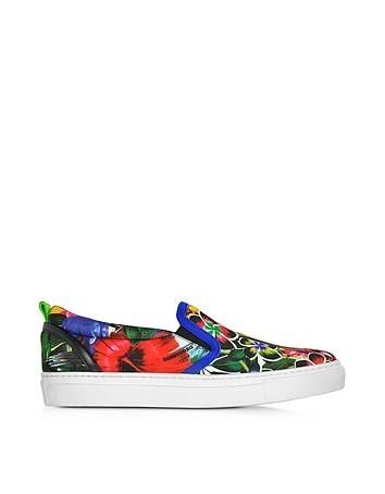 Pantofi sport de damă DSQUARED2, model floral, multicolor