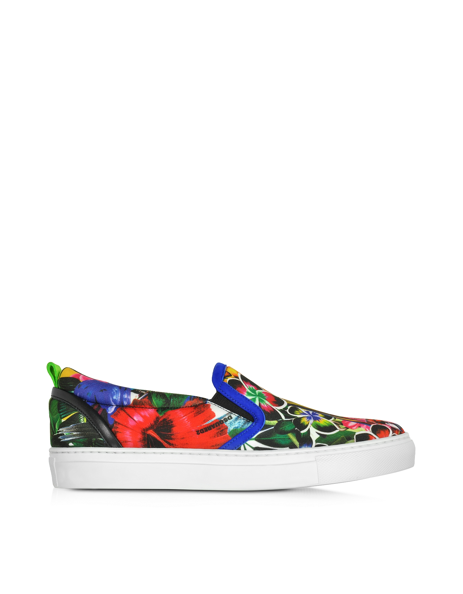 DSquared2 Shoes, Surfers's Paradise Multicolor Landscape Print Slip On Sneaker