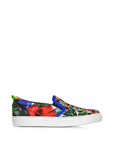 Surfers's Paradise Multicolor Landscape Print Slip On Sneaker - DSquared2
