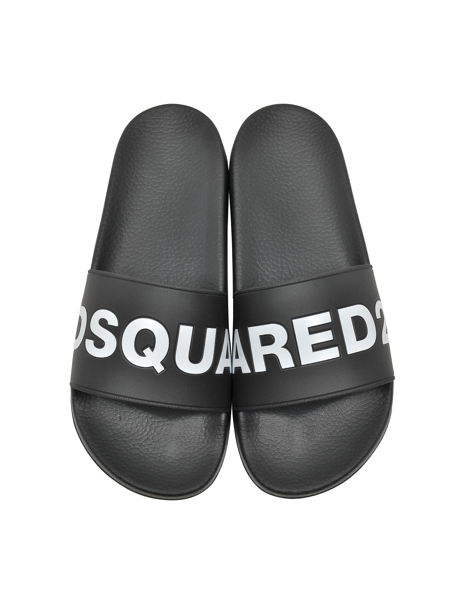 DSquared2 Shoes, Black Signture Men's Flip Flop Pool Sandals