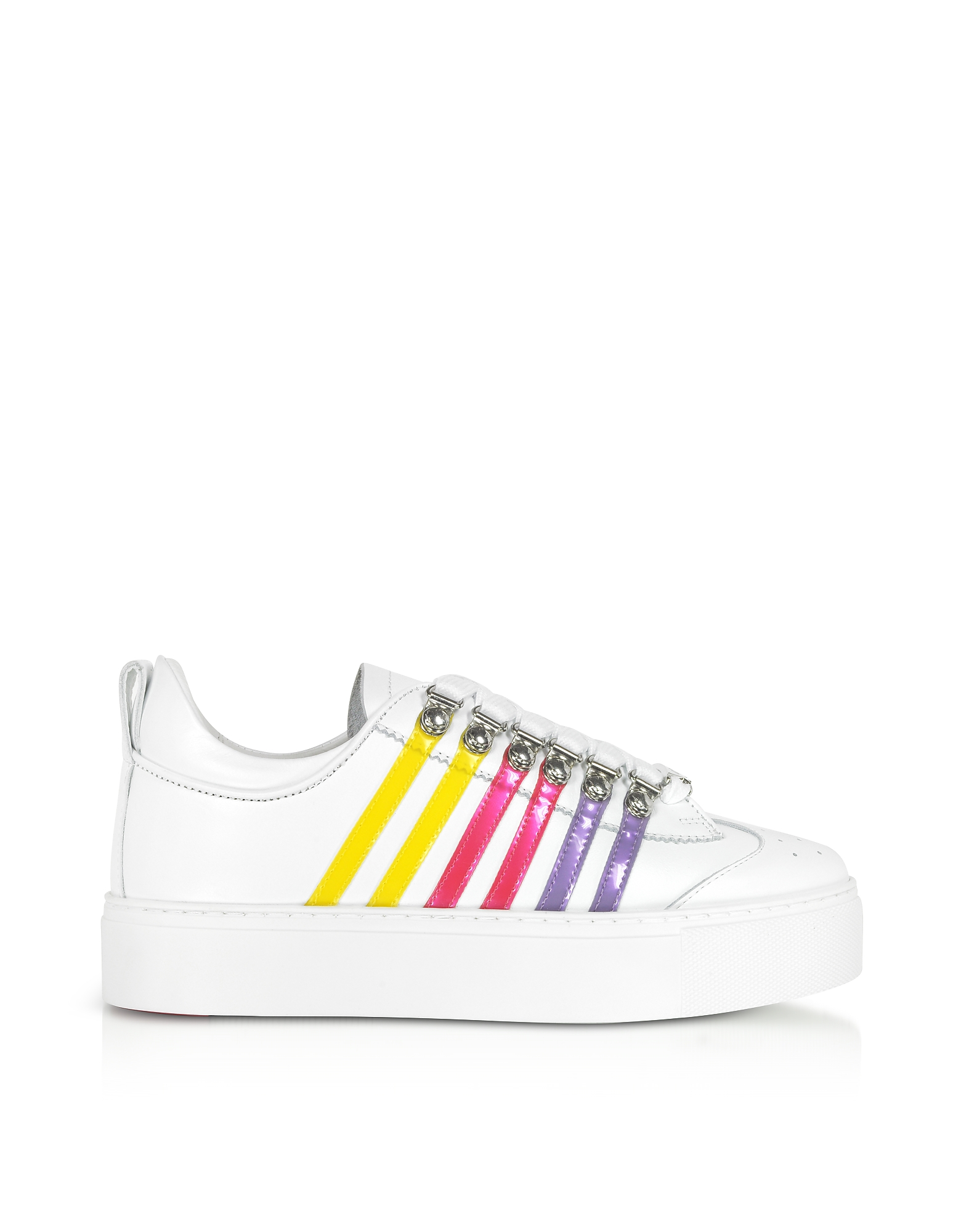 DSquared2 Designer Shoes, Leather Flatform Women's Sneakers