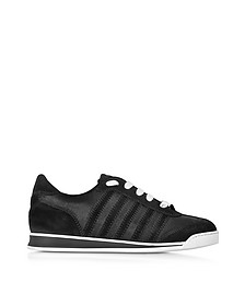 New Runner Black Suede and Fabric Women's Sneaker - DSquared2