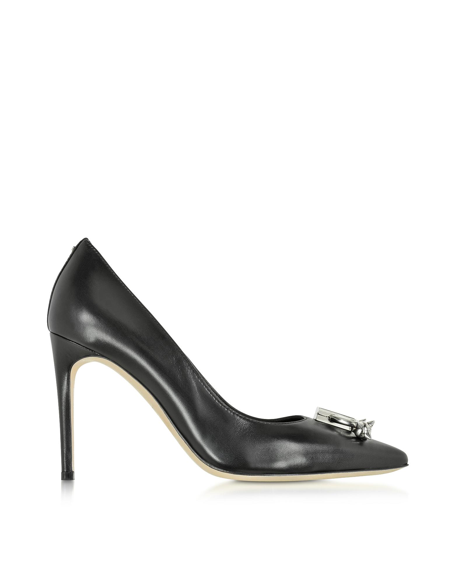 Фото Pierce Me - Черные Кожаные Туфли-Лодочки. Купить с доставкой