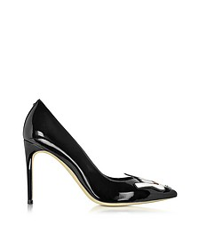 Patch Punk Black Patent Leather Pump - DSquared2