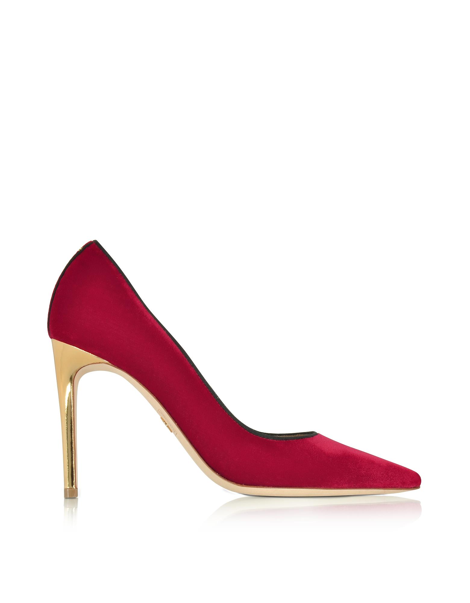 DSquared2 Shoes, Red Velvet Pump