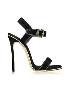 Black Velvet and Suede High Heel Sandal - DSquared2
