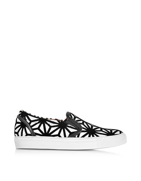DSquared2 Basic Sneaker Slip On in Pelle e Velluto Optical