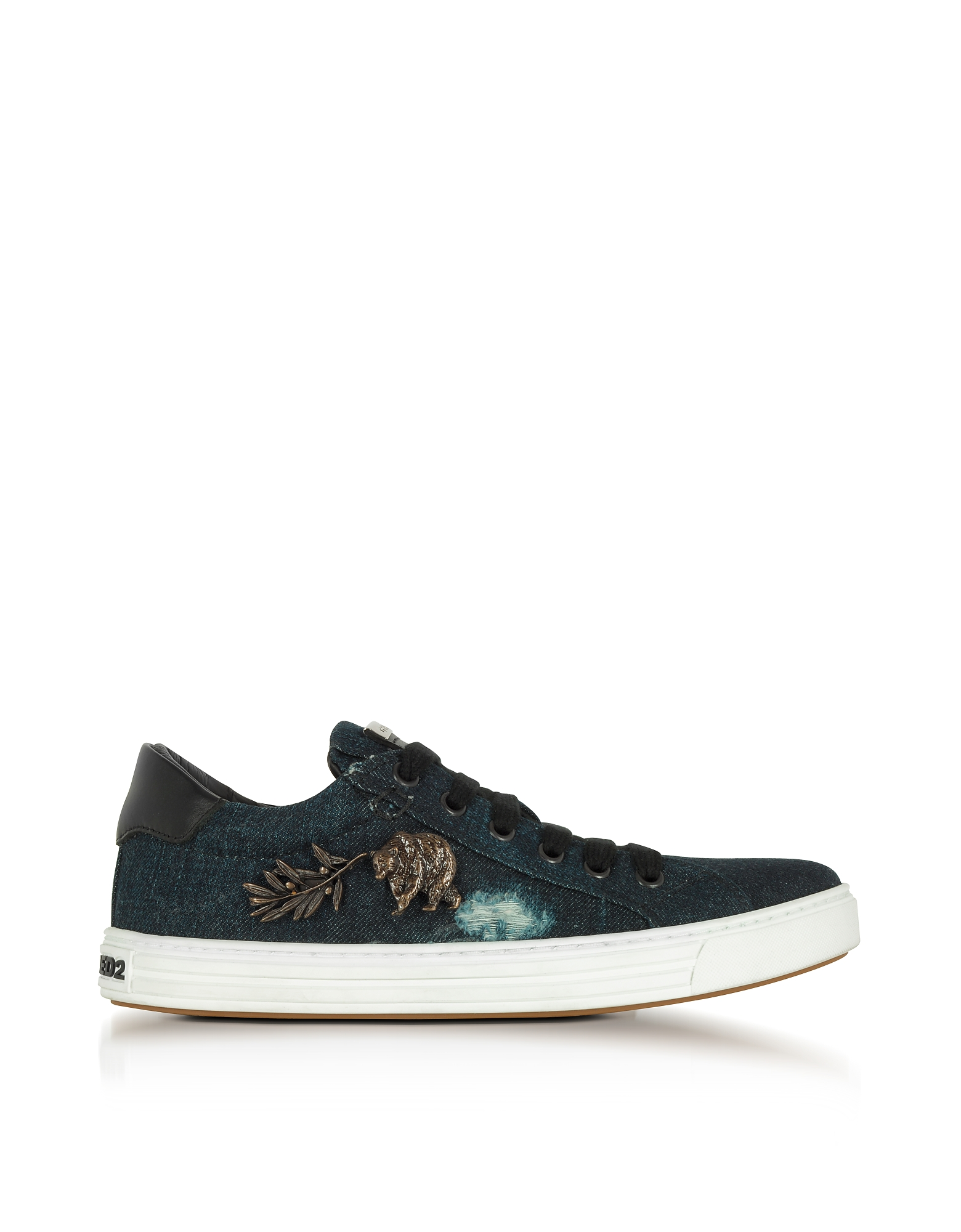 Washed Denim Tennis Club Women's Sneakers