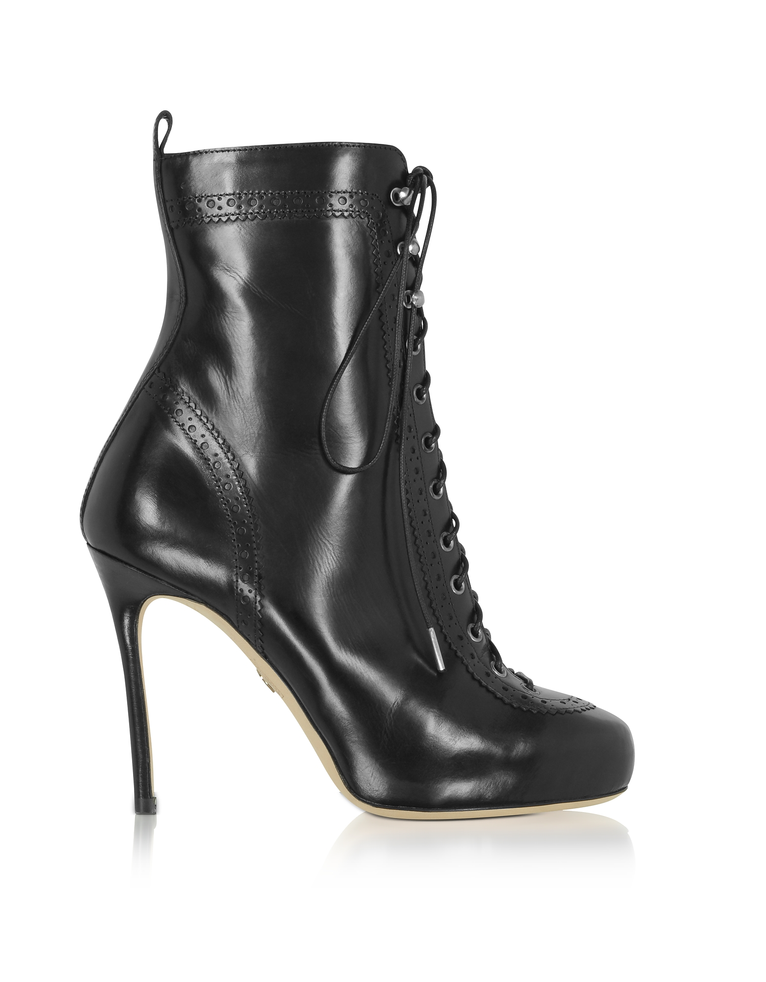 DSquared2 Shoes, Black Leather Witness High Heel Ankle Boots