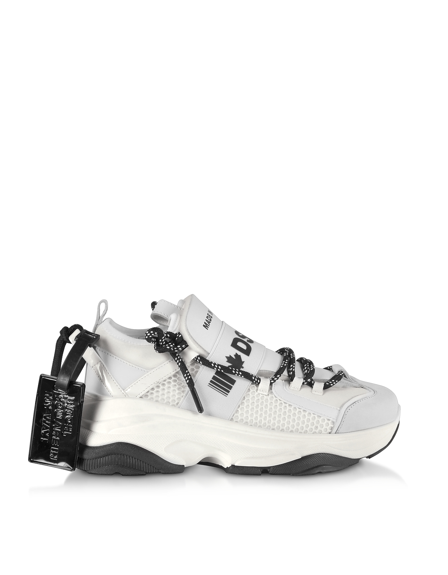 D-Bumpy Neoprene and Leather Women's Sneakers
