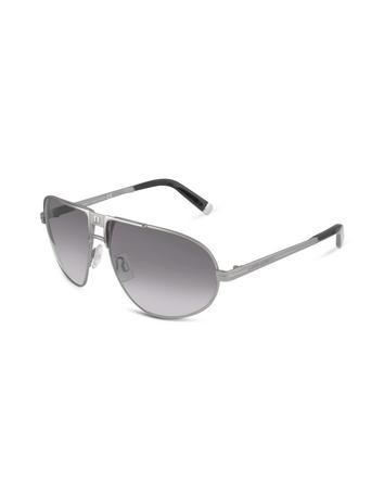 DSquared Logo Bridge Metal Aviator Sunglasses