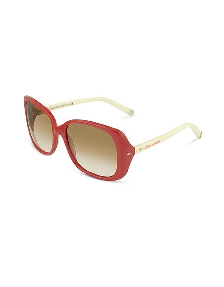 DSquared Sonnenbrille mit quadratischen Gläsern in zweifarbig