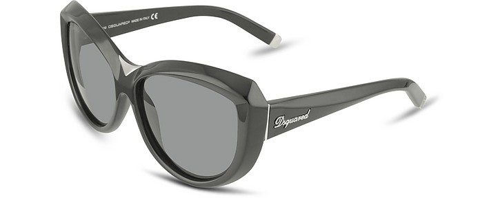 Signature Acetate Cat-Eye Sunglasses with Metal Bridge - DSquared2