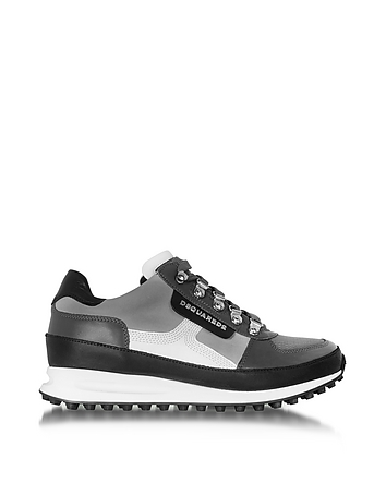 DSquared2 - Gray Fabric and Leather Sneaker