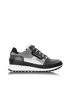 Gray Fabric and Leather Sneaker - DSquared2