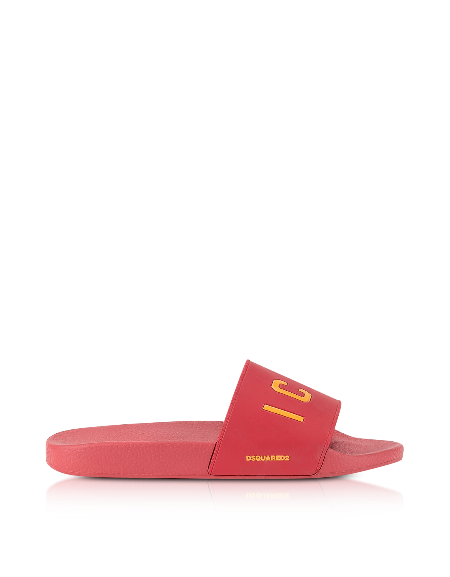 DSquared2 Shoes, Icon Red Rubber Slide Sandals