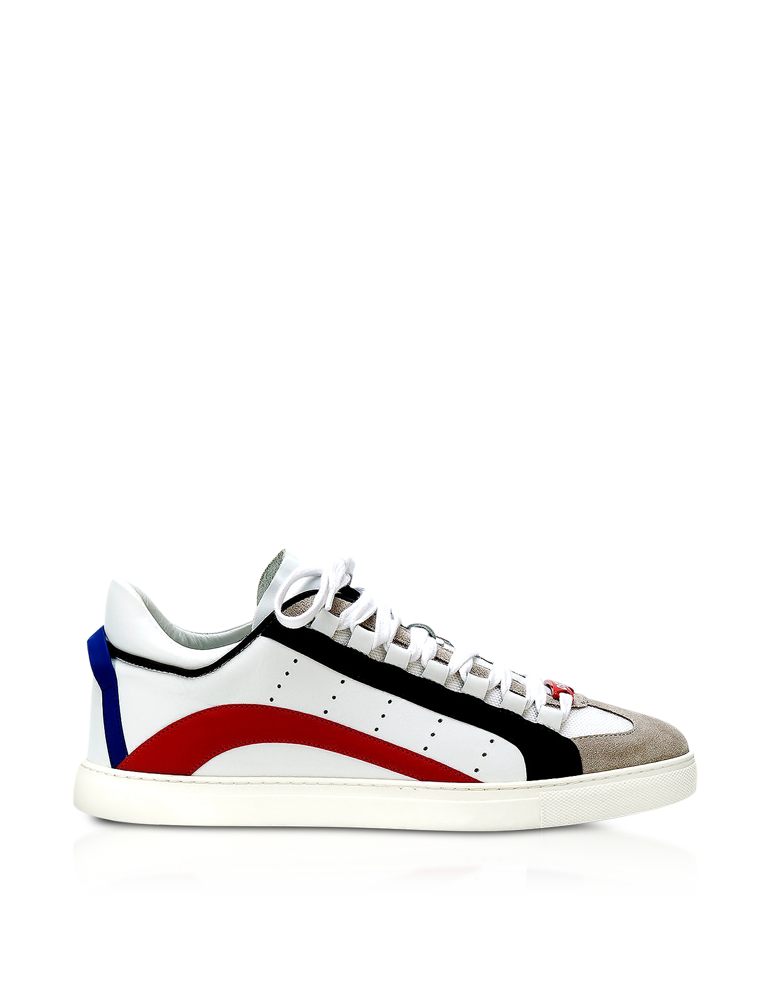 DSquared2 Shoes, White Leather Men's Low Top Sneakers