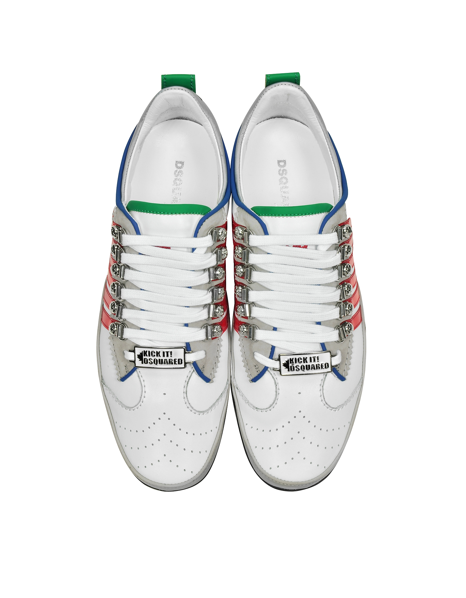 White and Red Leather Sneaker от Forzieri INT