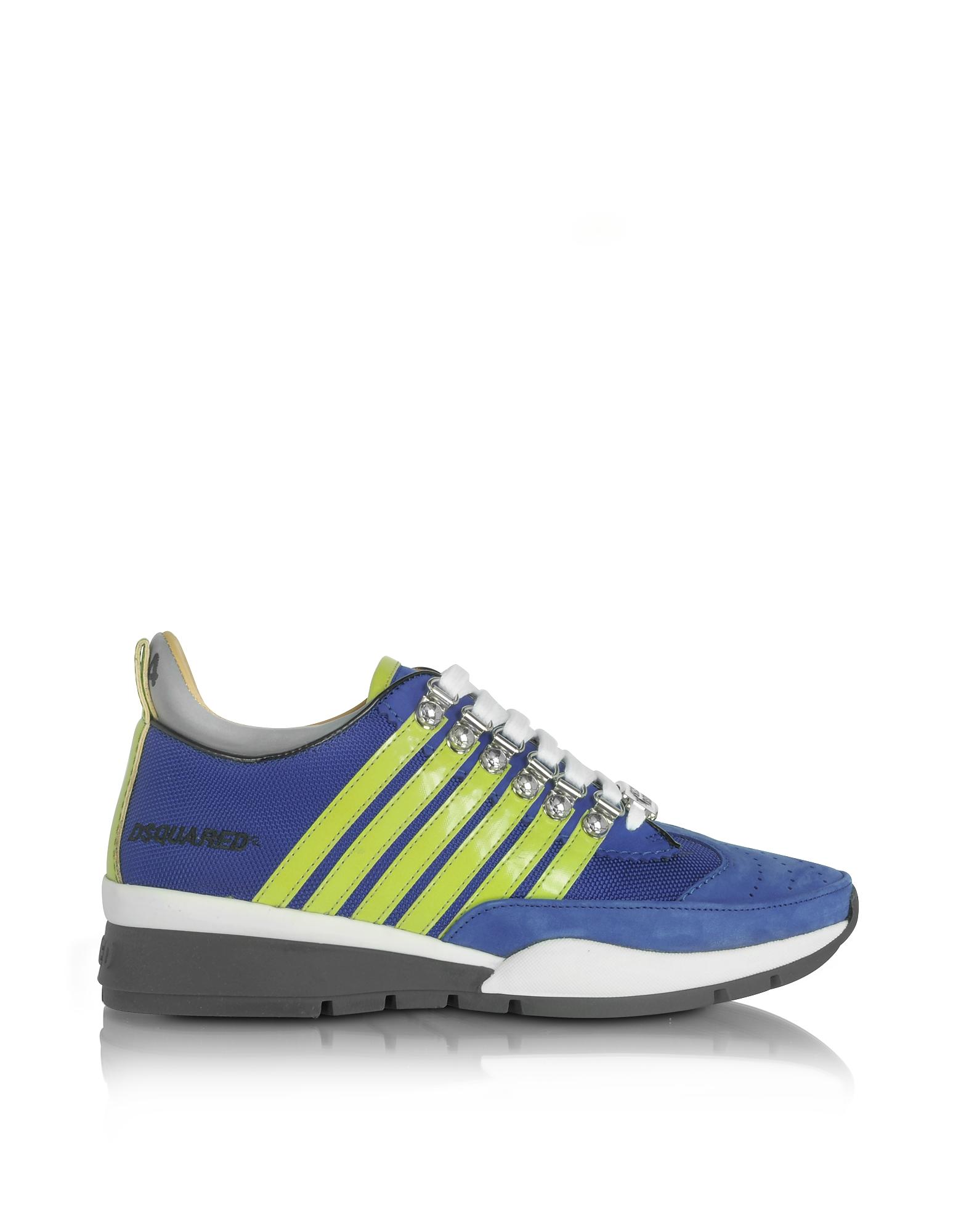551 - Синие и Зеленые Мужские Кроссовки