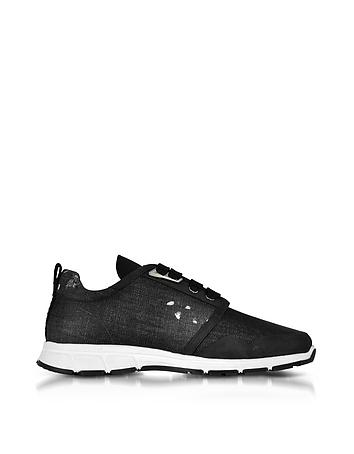 DSquared2 - Marte Run Black Washed Denim Men's Sneakers