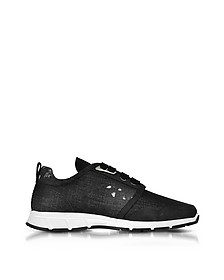 Marte Run Black Washed Denim Men's Sneakers - DSquared2