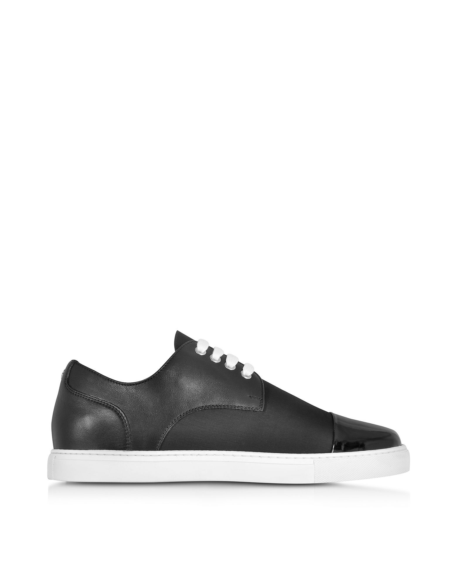 DSquared2 Shoes, Tux Black Leather and Fabric Men's Sneaker