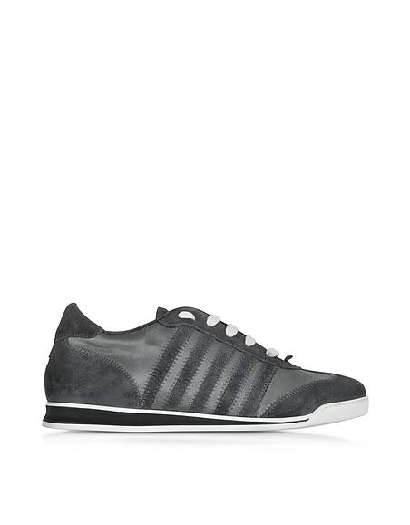 Foto DSquared2 New Runner Sneaker da Uomo in Tessuto e Suede Antracite Scarpe