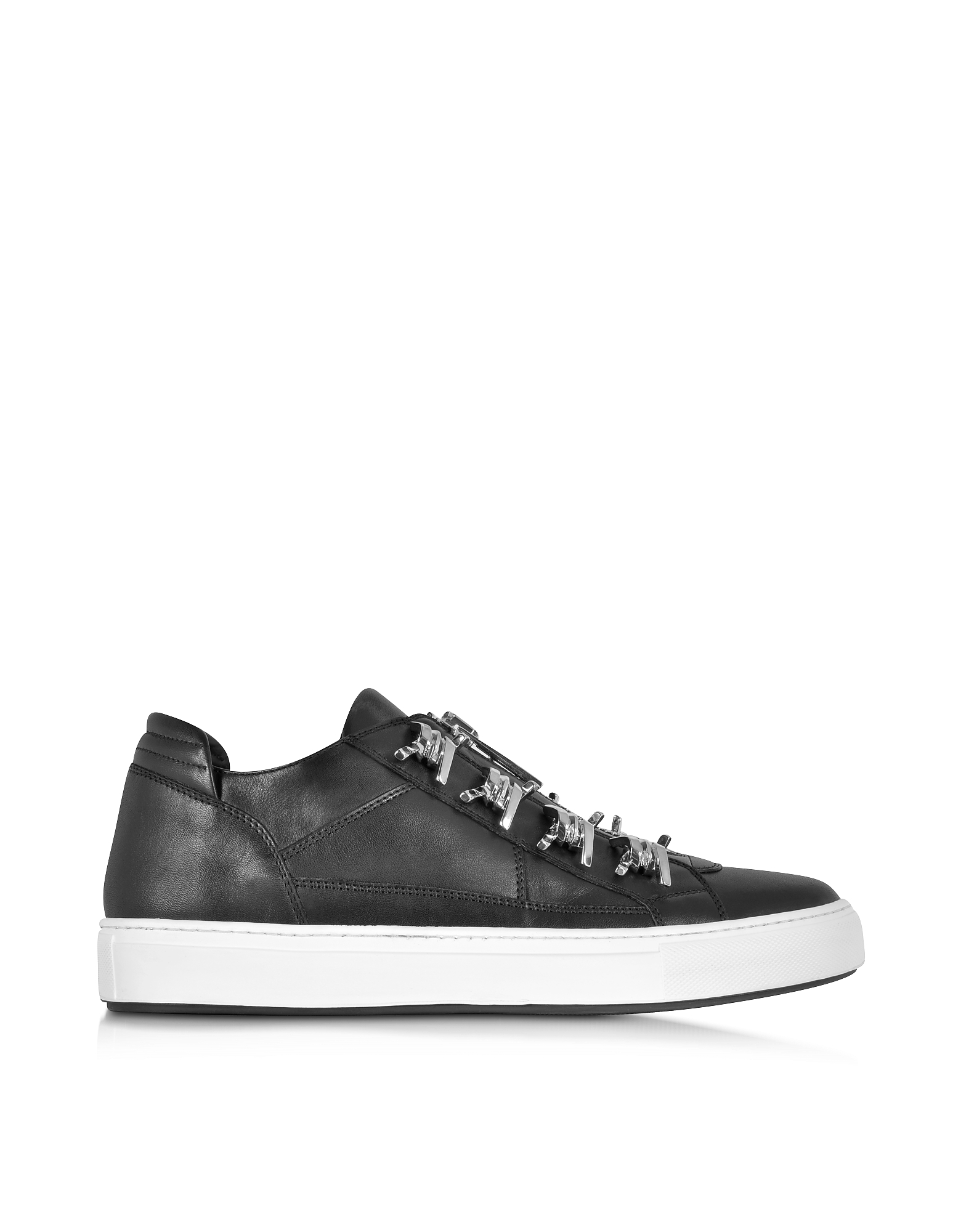 DSquared2 Shoes, Asylum Black Leather Men's Sneaker