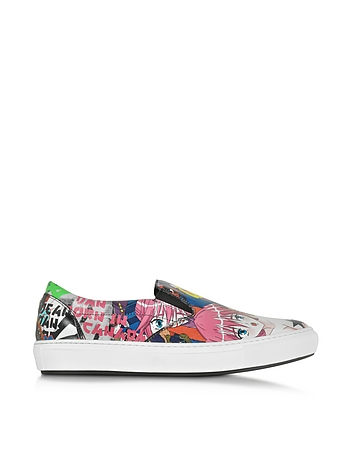 DSquared2 - Manga Print Leather Slip On Sneaker
