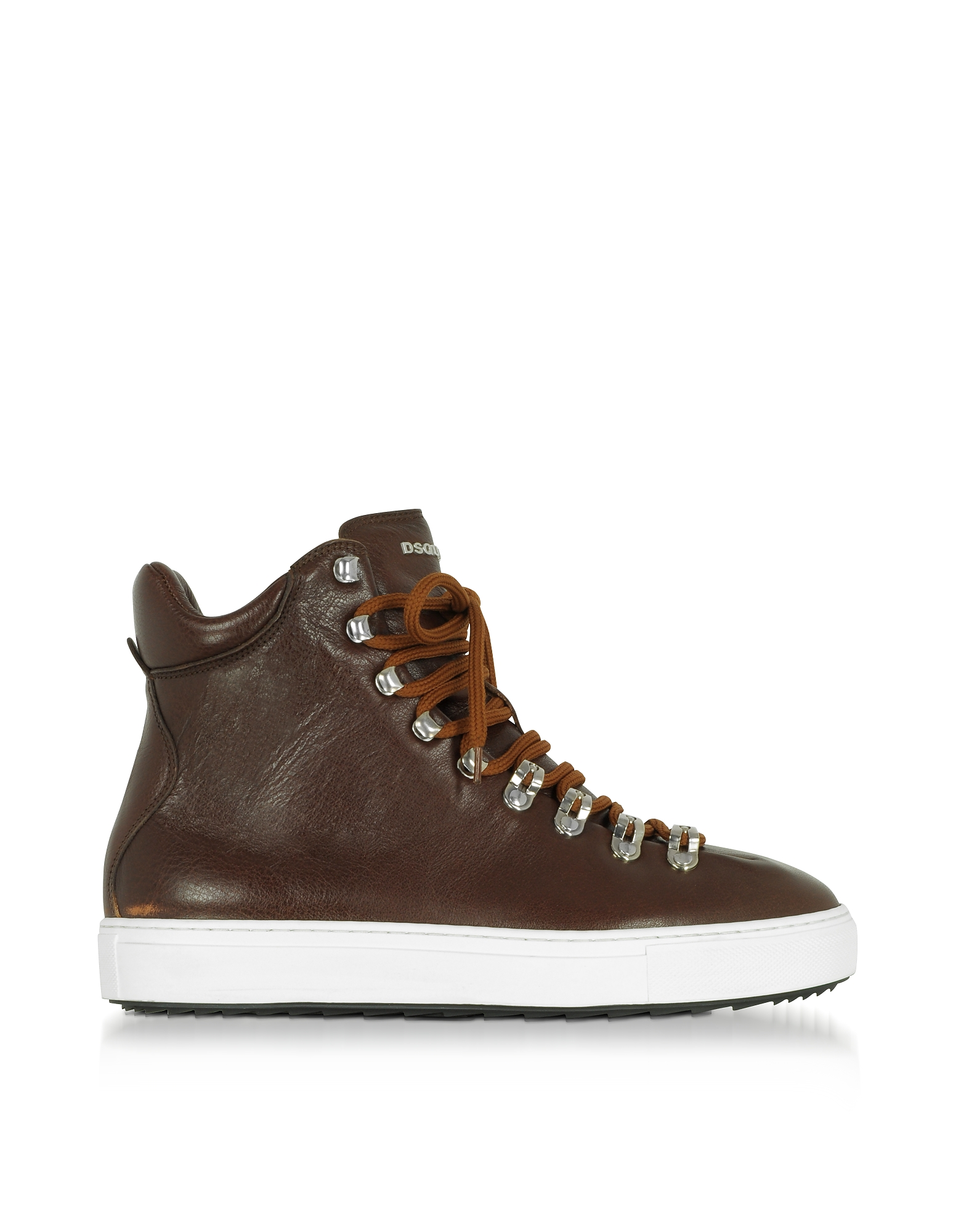 DSquared2 Shoes, Cuoio Leather High Top Men's Sneakers