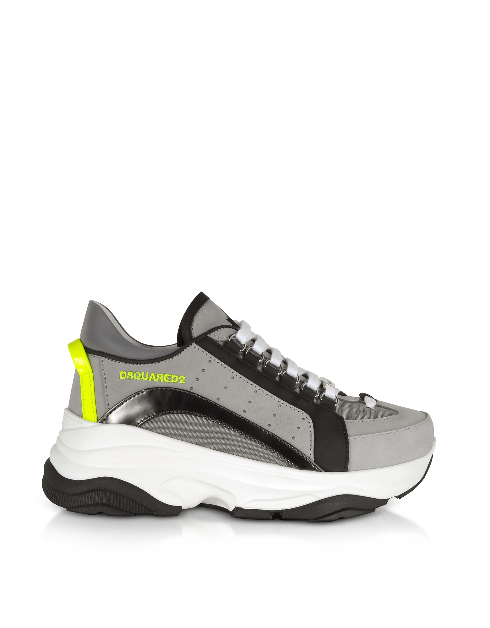 Gray Nabuck and Nylon Men's Sneakers