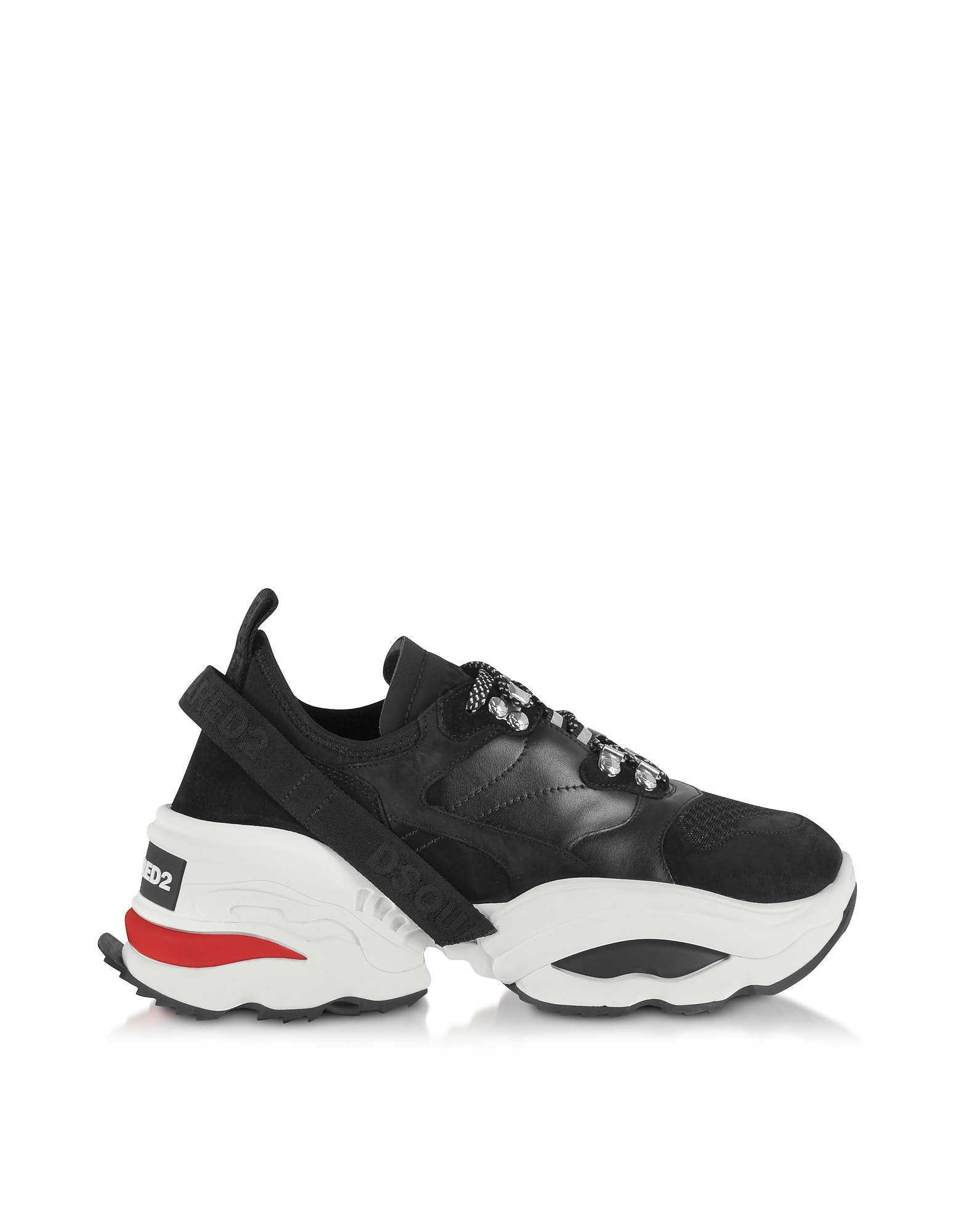 Mesh, Calf Leather and Neoprene Men's Sneakers