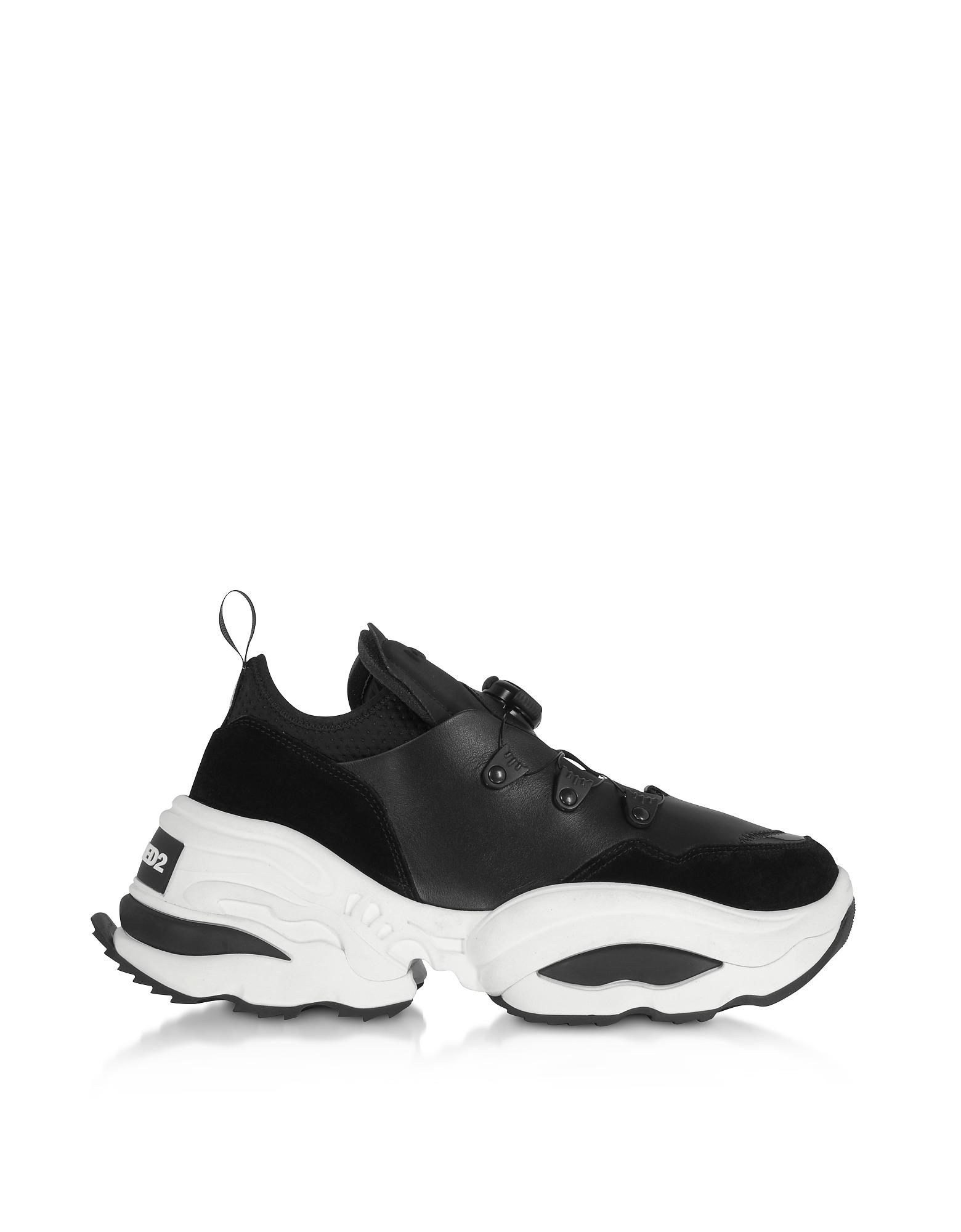 Black Backyard Punk Leather Sneakers