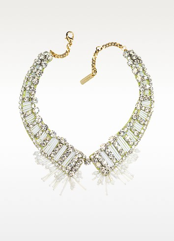 Bead and Crystal Choker Necklace - Radà