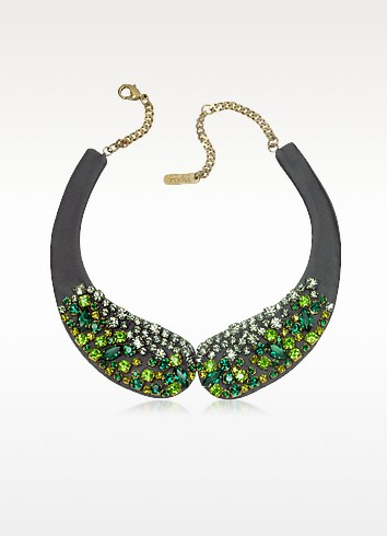 Green Bead and Crystal Choker Necklace - Radà