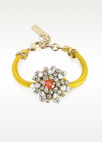 Flower Crystal Lace and Metal Bracelet - Radà