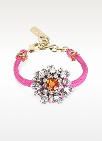 Flower Crystal Lace and Metal Bracelet - Radà