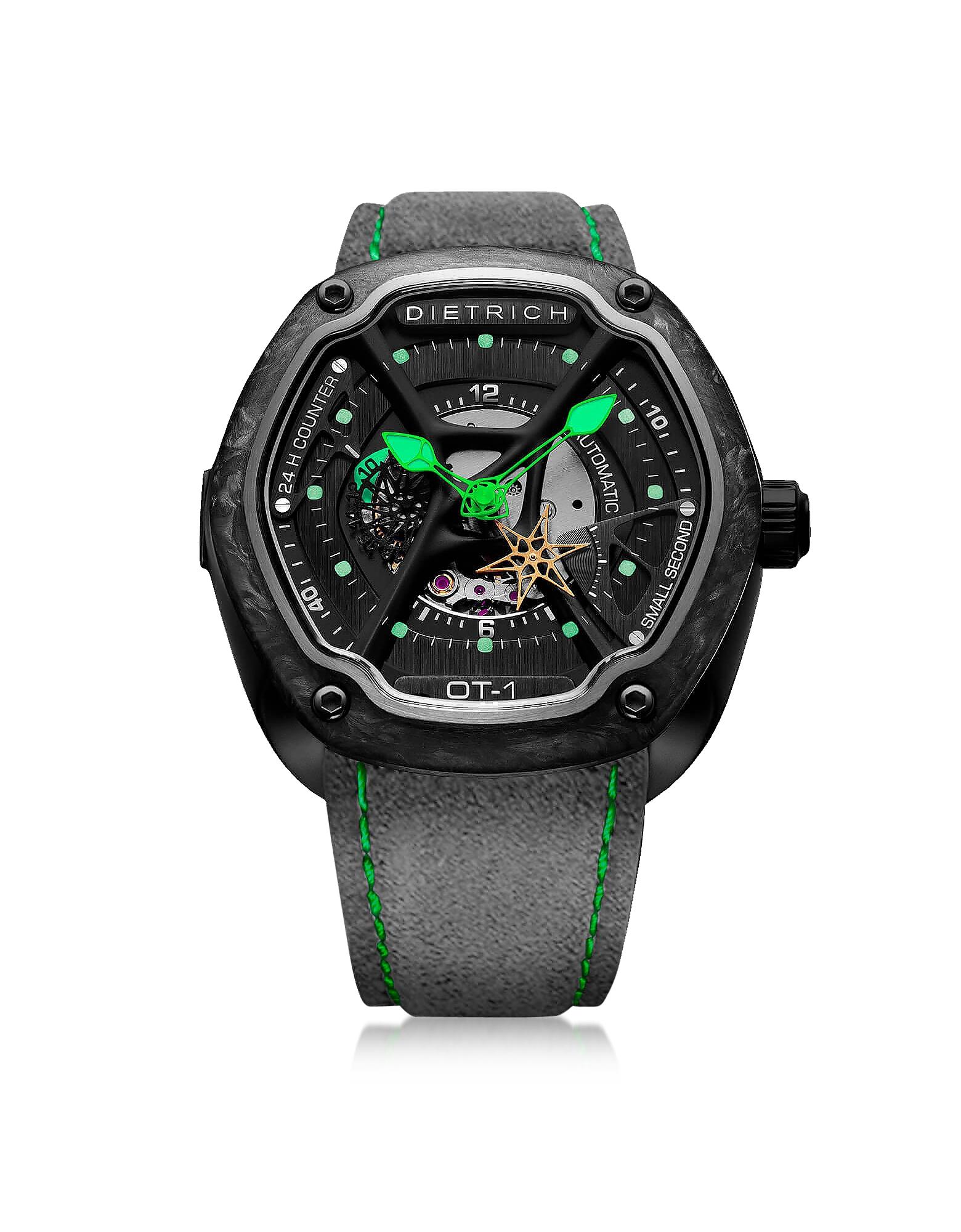 O. Time-1 316L Orologio Grigio e Verde in Acciaio Inossidabile