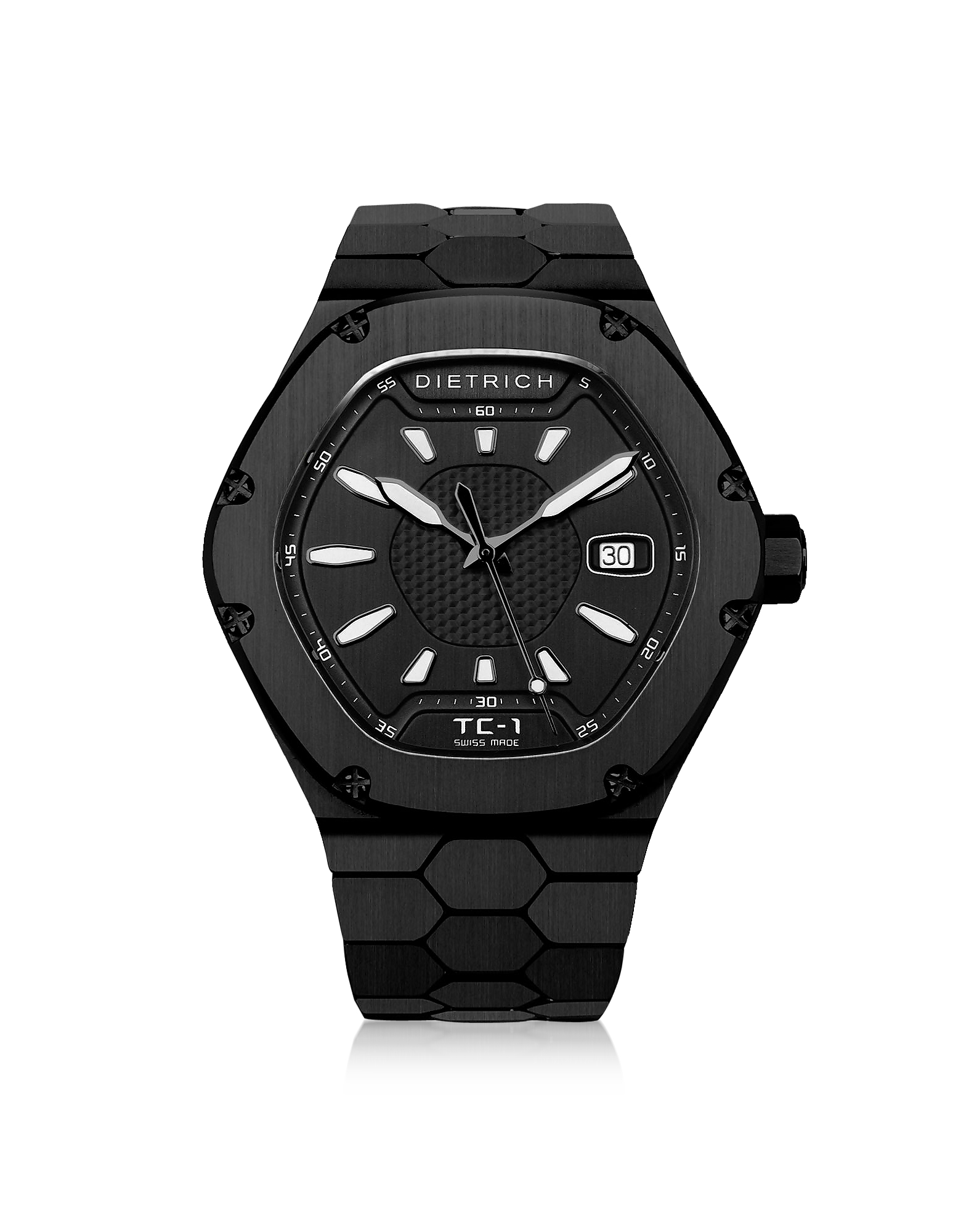 Dietrich Men's Watches, TC-1 PVD Stainless Steel w/White Luminova and Black Dial