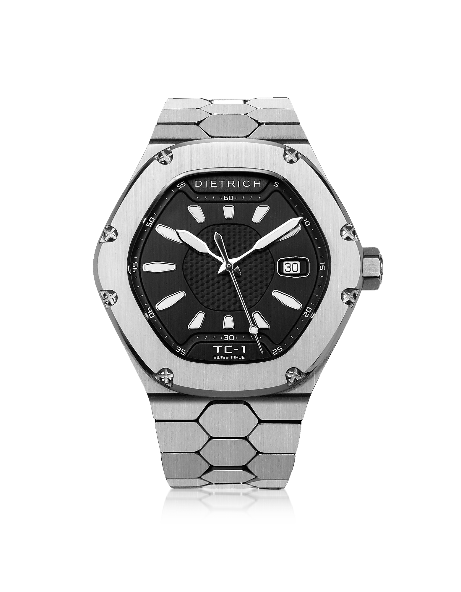 Dietrich Men's Watches, TC-1 SS 316L Steel w/White Luminova and Black Dial